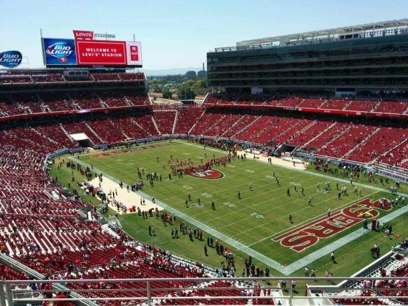 Seating view for Levi's Stadium Section 308 Row 4 Seat 13