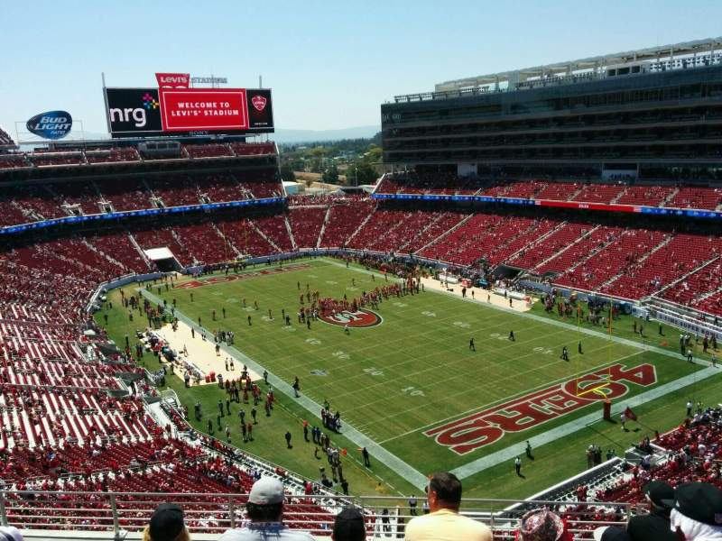 Seating view for Levi's Stadium Section 307 Row 7 Seat 17