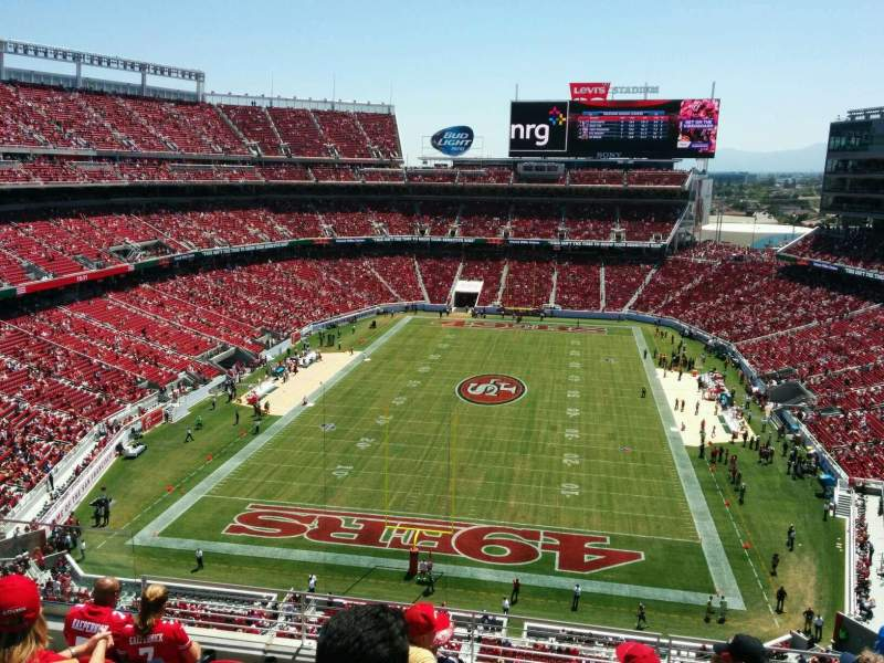 Seating view for Levi's Stadium Section 302 Row 7 Seat 23
