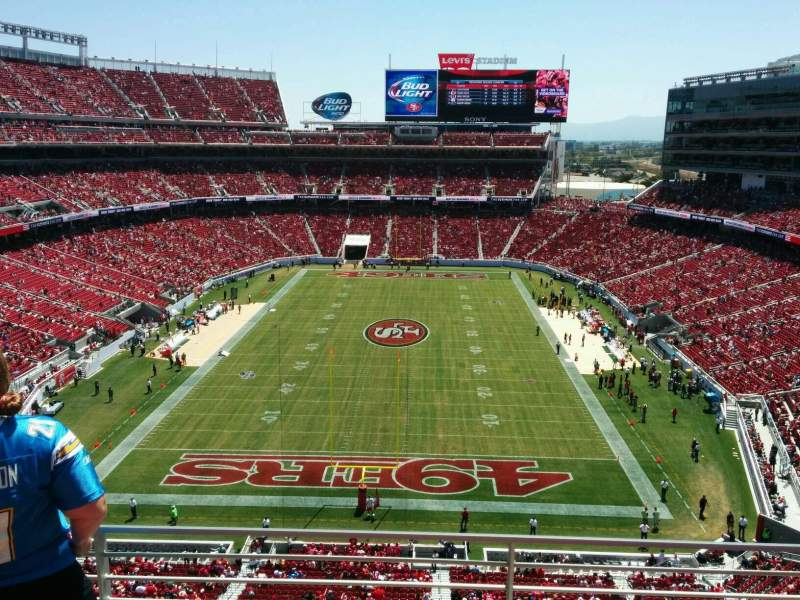 Seating view for Levi's Stadium Section 303 Row 3 Seat 4