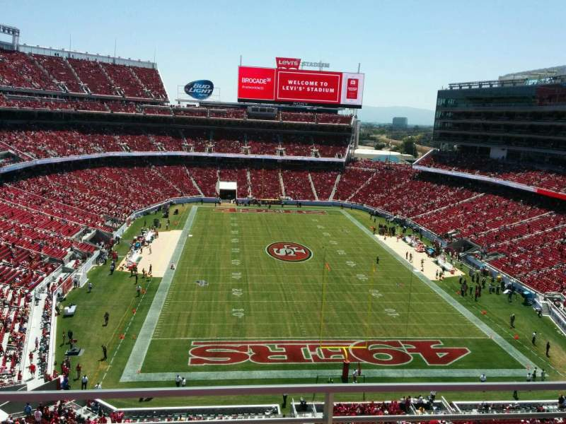 Seating view for Levi's Stadium Section 304 Row 2 Seat 13