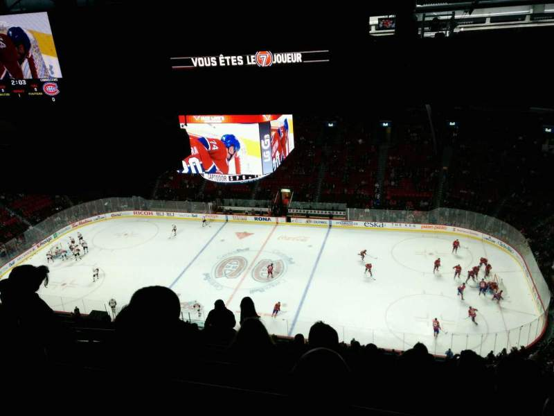 Seating view for Centre Bell Section 417 Row b Seat 8