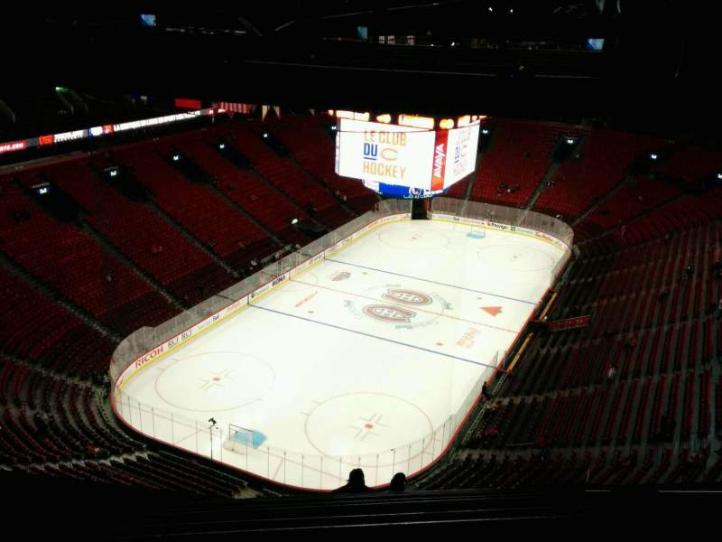 Seating view for Centre Bell Section 408 Row B Seat 8