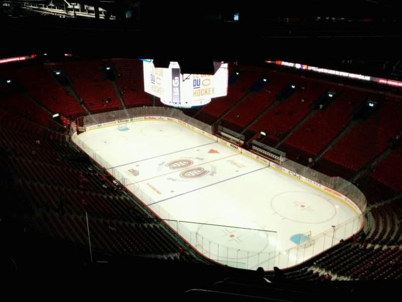 Seating view for Centre Bell Section 413 Row B Seat 16