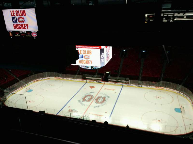 Seating view for Centre Bell Section 417 Row B Seat 9