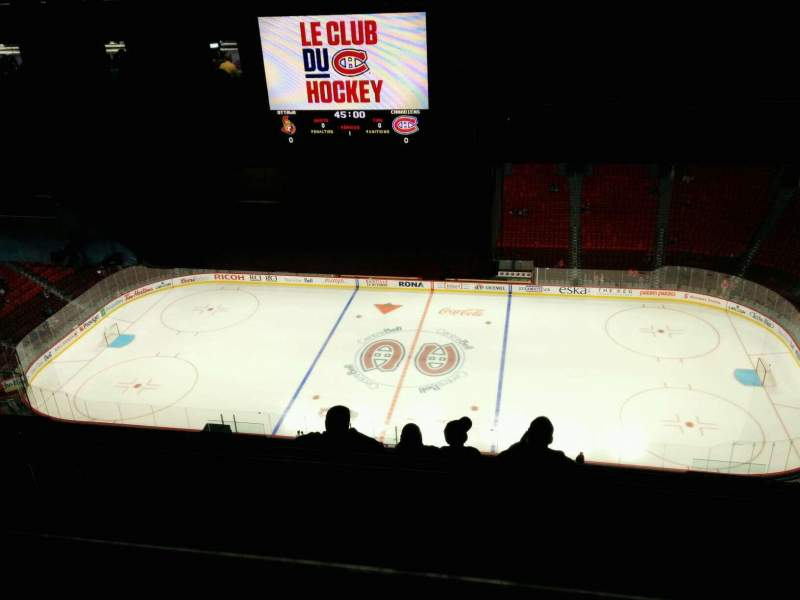Seating view for Centre Bell Section 418 Row D Seat 7