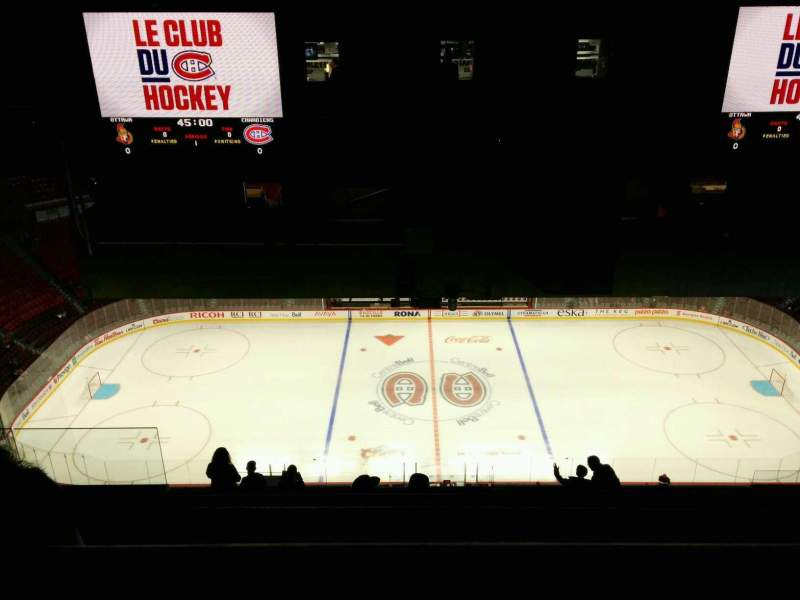 Seating view for Centre Bell Section 419 Row C Seat 10