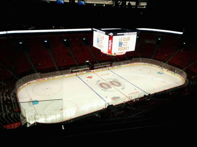 Seating view for Centre Bell Section 422 Row A Seat 22