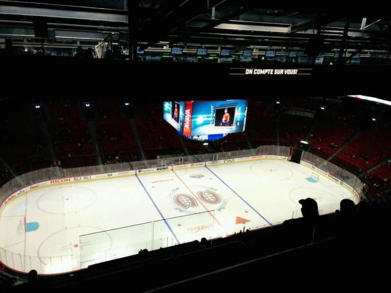 Seating view for Centre Bell Section 404 Row C Seat 2