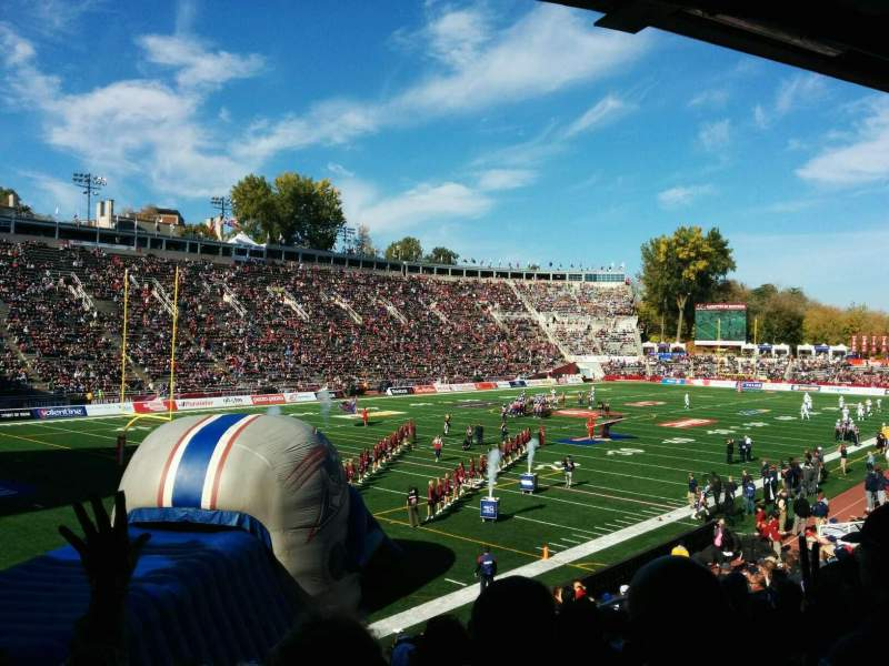 Seating view for Percival Molson Memorial Stadium Section Z1 Row 15 Seat 14
