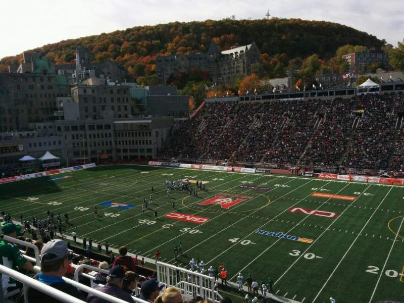Seating view for Percival Molson Memorial Stadium  Section s2 Row 10 Seat 9