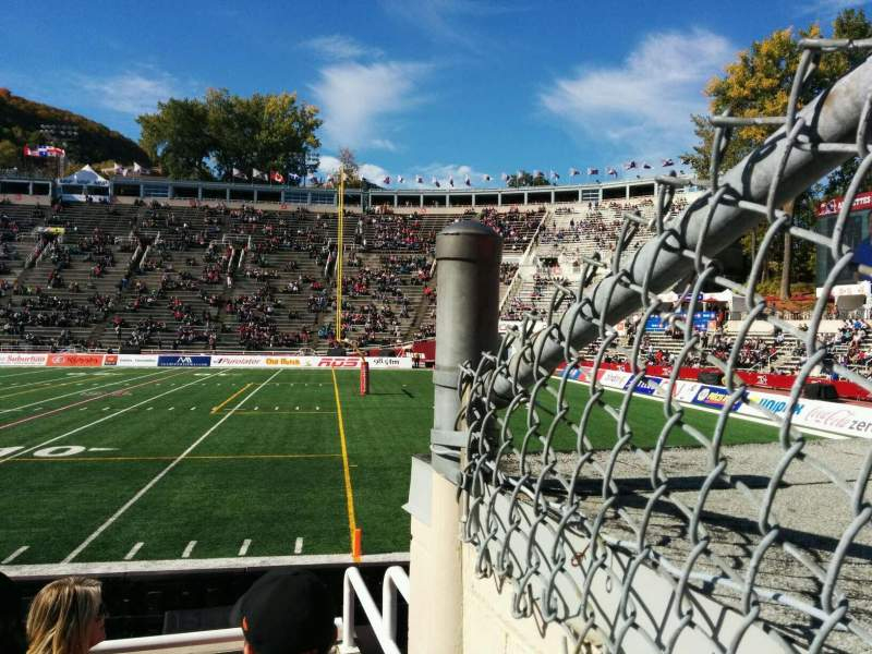 Seating view for Percival Molson Memorial Stadium Section t1 Row 2 Seat 46
