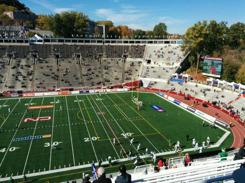 Seating view for Percival Molson Memorial Stadium Section s2 Row 21 Seat 13