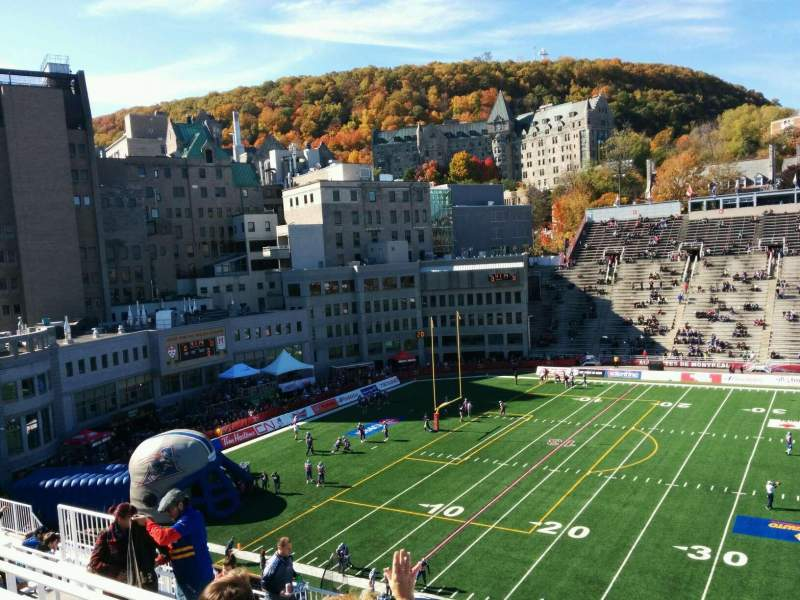 Seating view for Percival Molson Memorial Stadium Section v2 Row 14 Seat 14