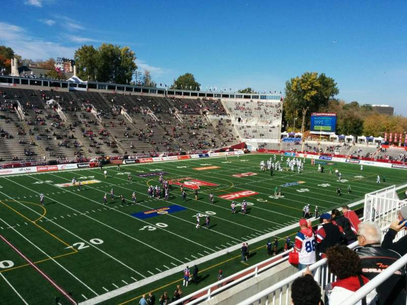 Seating view for Percival Molson Memorial Stadium Section x2 Row 6 Seat 22