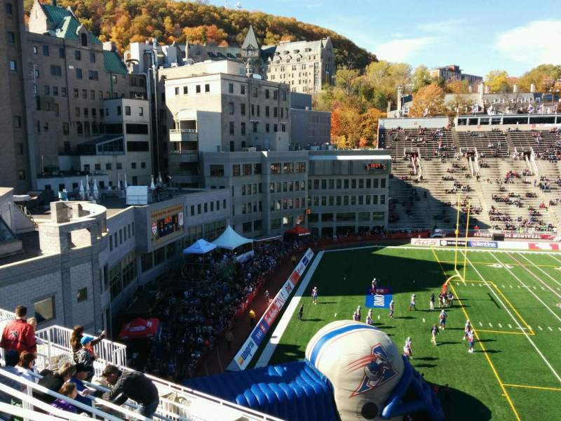 Seating view for Percival Molson Memorial Stadium Section y2 Row 12 Seat 8
