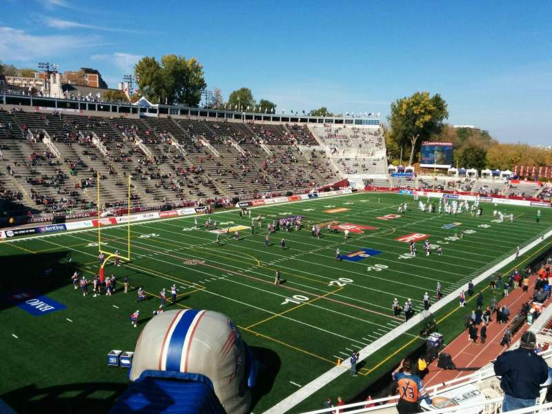 Seating view for Percival Molson Memorial Stadium Section x2 Row 9 Seat 23