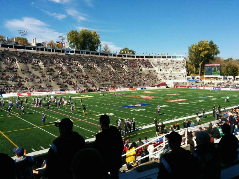 Seating view for Percival Molson Memorial Stadium Section y1 Row 13 Seat 14
