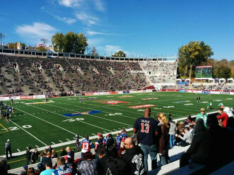 Seating view for Percival Molson Memorial Stadium Section X1 Row 12 Seat 20