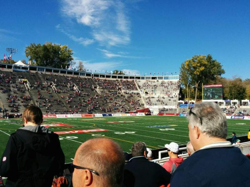 Seating view for Percival Molson Memorial Stadium Section w1 Row 2 Seat 9