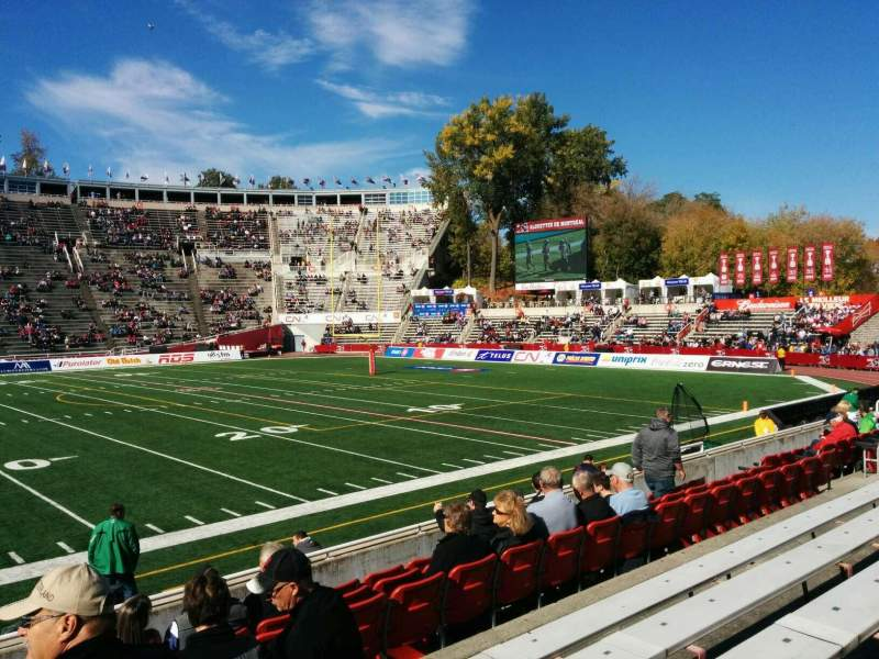 Seating view for Percival Molson Memorial Stadium Section u1 Row 5 Seat 18