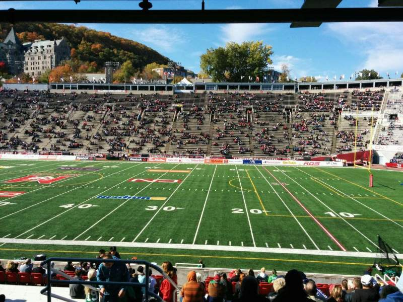 Seating view for Percival Molson Memorial Stadium Section t1 Row 16 Seat 3