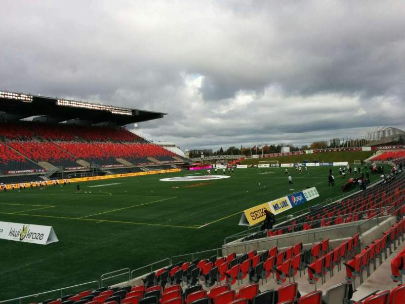 Seating view for TD Place Stadium Section Y Row 16 Seat 10