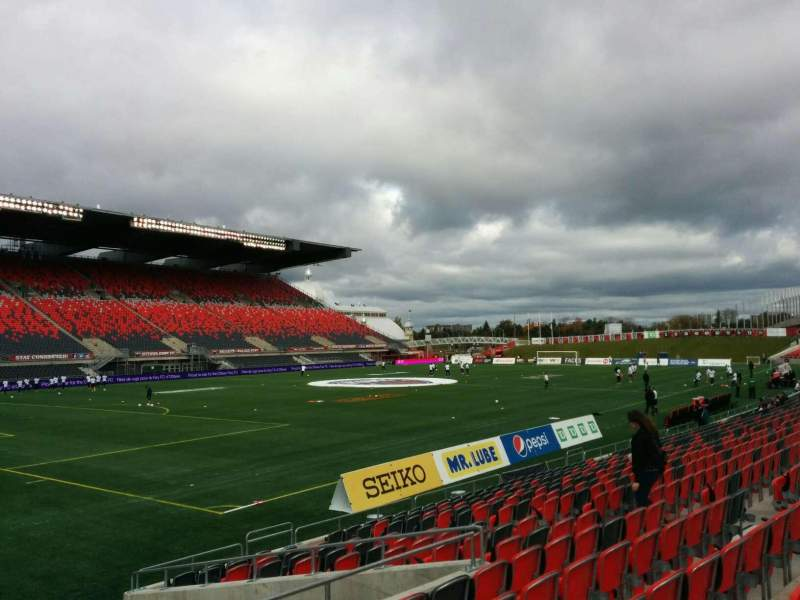 Seating view for TD Place Stadium Section X Row 15 Seat 17
