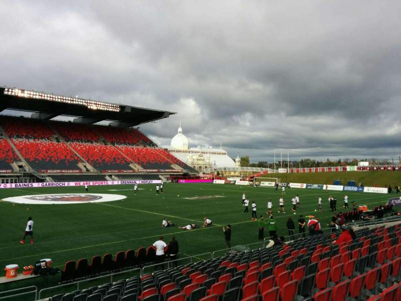 Seating view for TD Place Stadium Section U Row 15 Seat 5