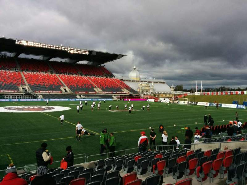 Seating view for TD Place Stadium Section T Row 13 Seat 9