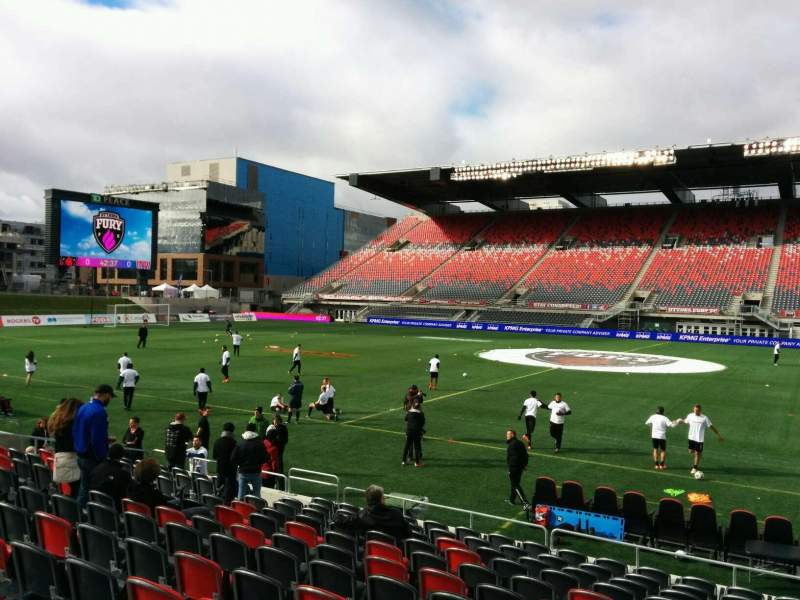 Seating view for TD Place Stadium Section R Row 13 Seat 9