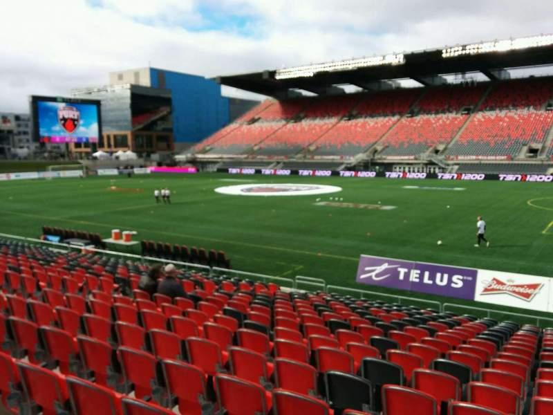 TD Place Stadium, section: P, row: 18, seat: 10