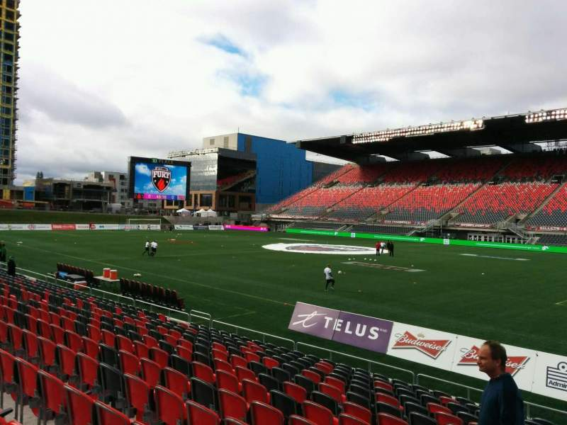 Seating view for TD Place Stadium Section N Row 14 Seat 23
