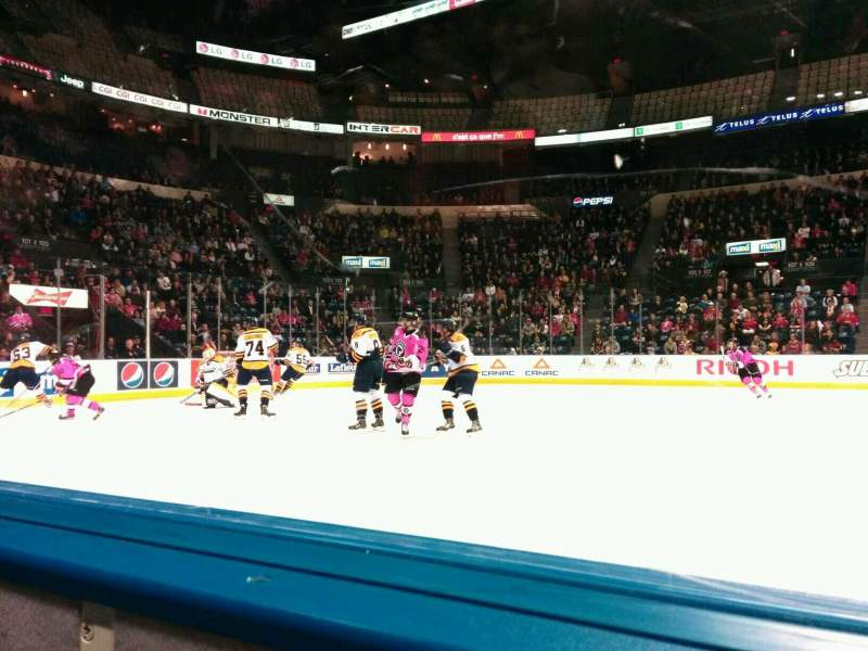 Seating view for Colisée Pepsi Section 110 Row a Seat 12