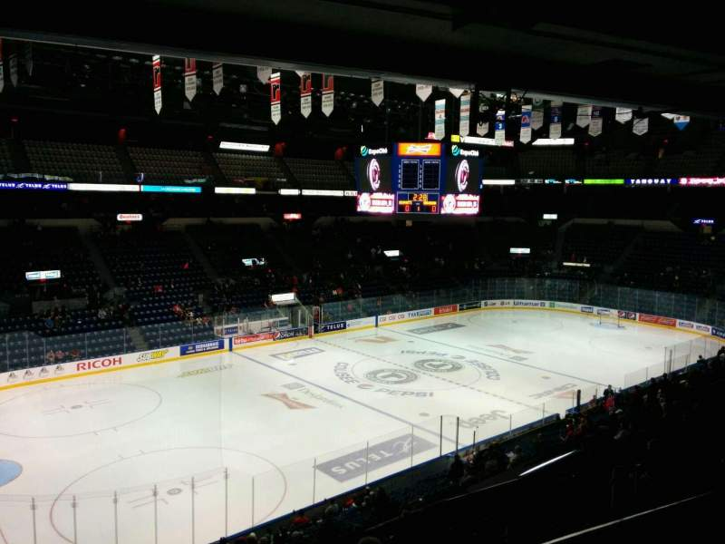 Seating view for Colisée Pepsi Section 206 Row E Seat 16
