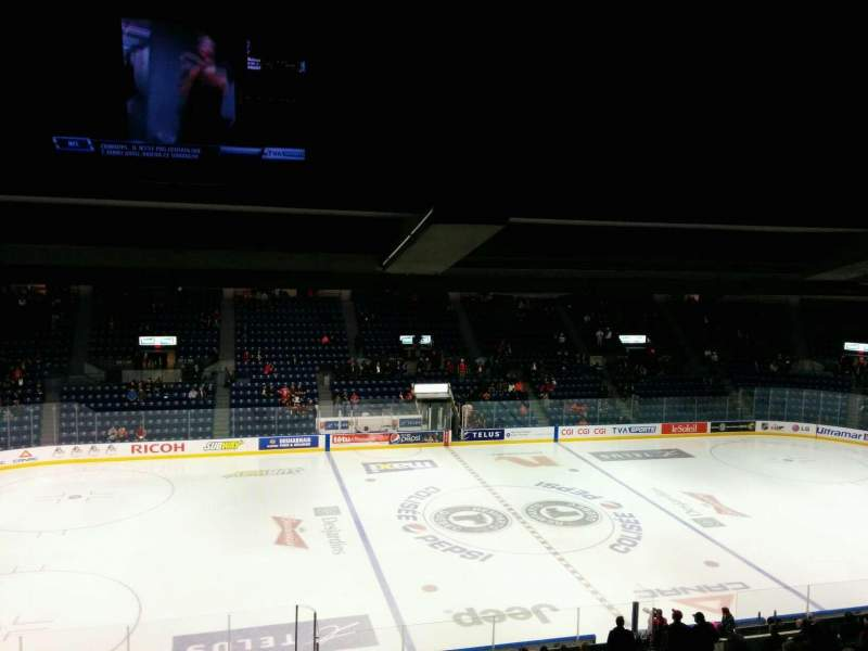 Seating view for Colisée Pepsi Section 210 Row F Seat 17