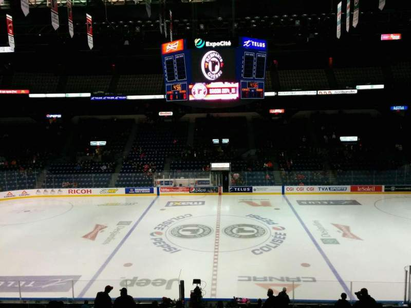 Seating view for Colisée Pepsi Section 212 Row B Seat 7