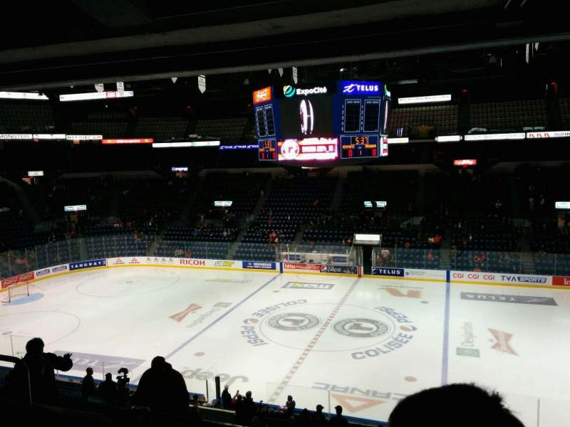 Seating view for Colisée Pepsi Section 214 Row D Seat 11