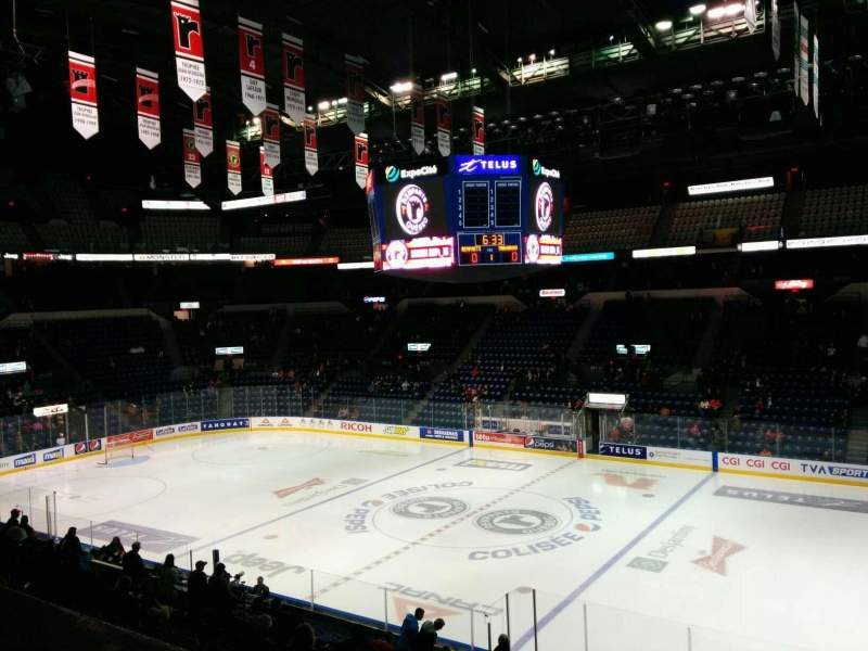 Seating view for Colisée Pepsi Section 216 Row A Seat 10