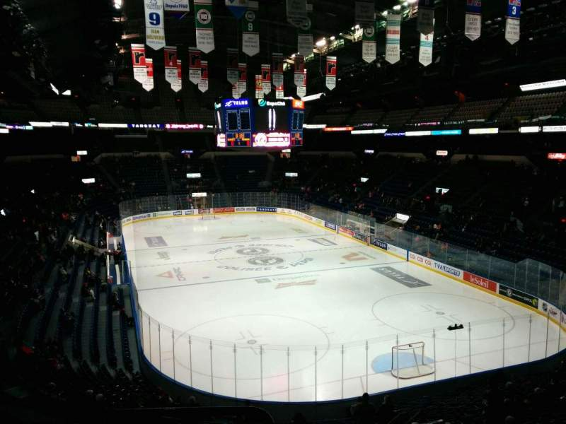 Seating view for Colisée Pepsi Section 220 Row D Seat 19
