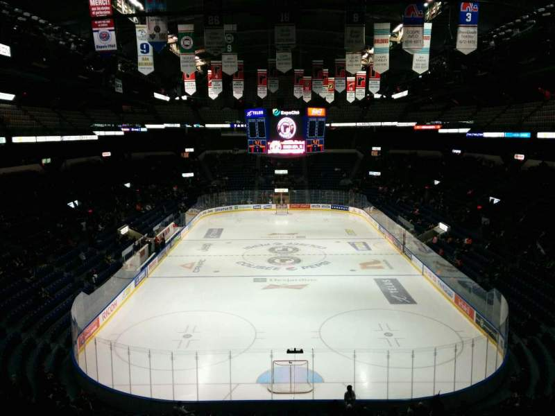 Seating view for Colisée Pepsi Section 221 Row G Seat 10