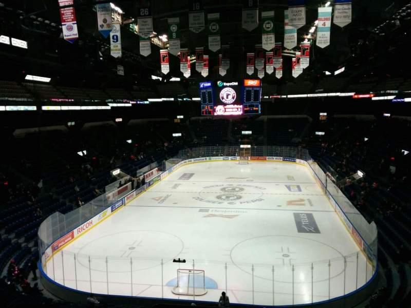Seating view for Colisée Pepsi Section 219 Row E Seat 50