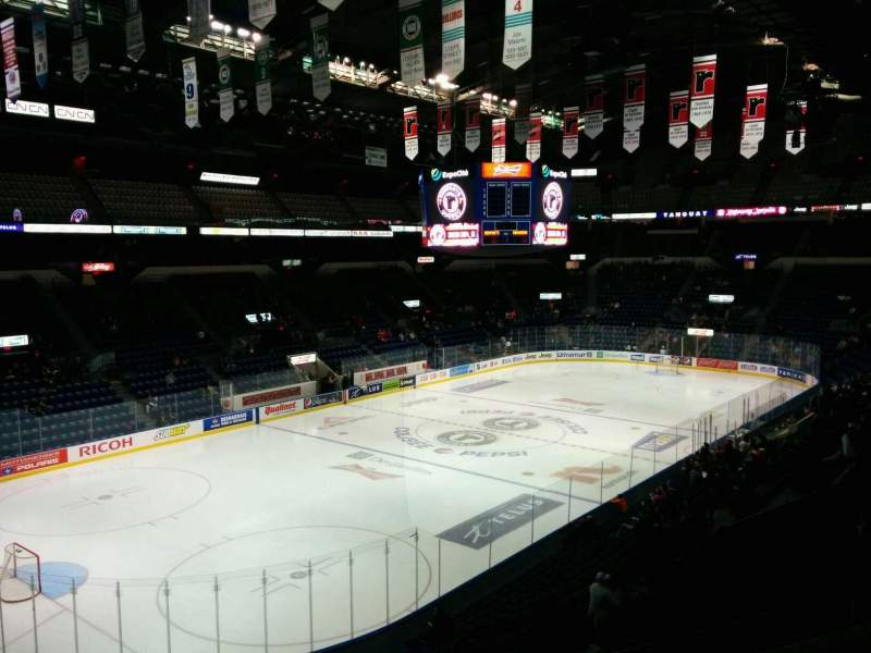 Seating view for Colisée Pepsi Section 217 Row C Seat 39