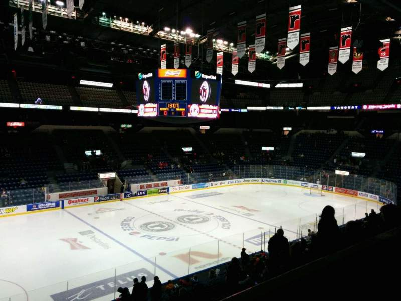 Seating view for Colisée Pepsi Section 215 Row B Seat 15