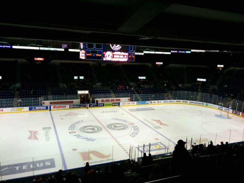 Seating view for Colisée Pepsi Section 213 Row E Seat 12