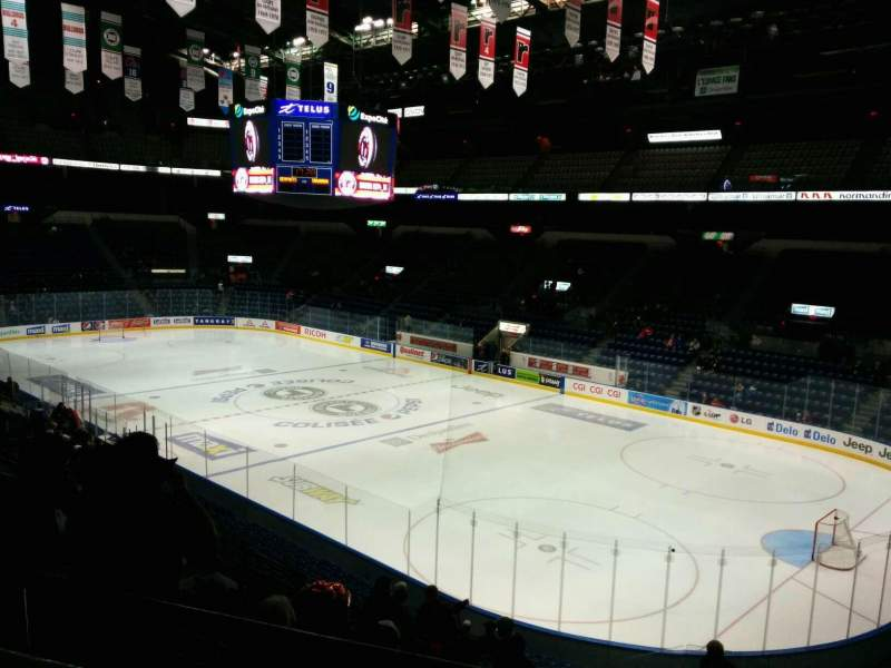 Seating view for Colisée Pepsi Section 205 Row A Seat 14