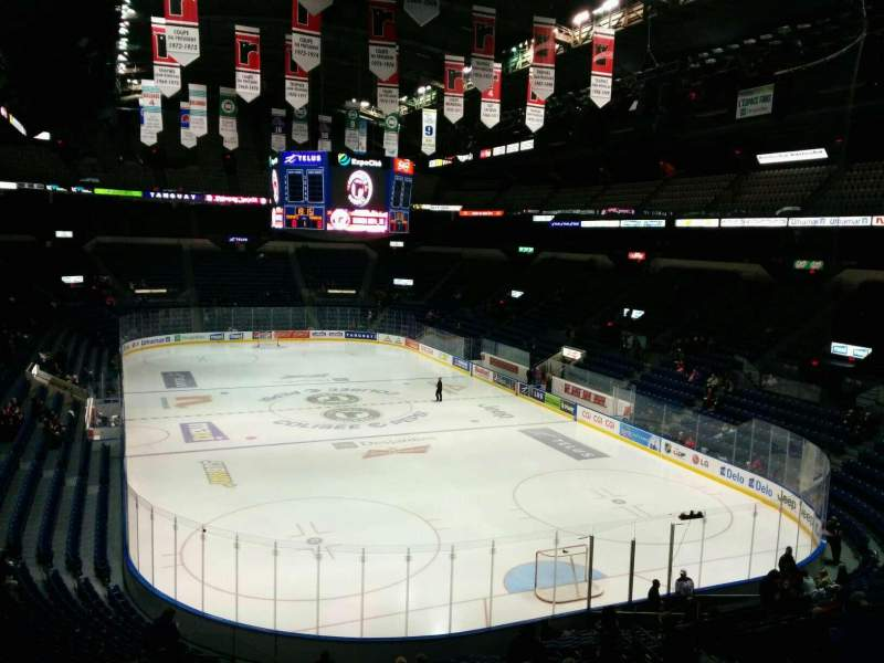 Seating view for Colisée Pepsi Section 203 Row C Seat 17