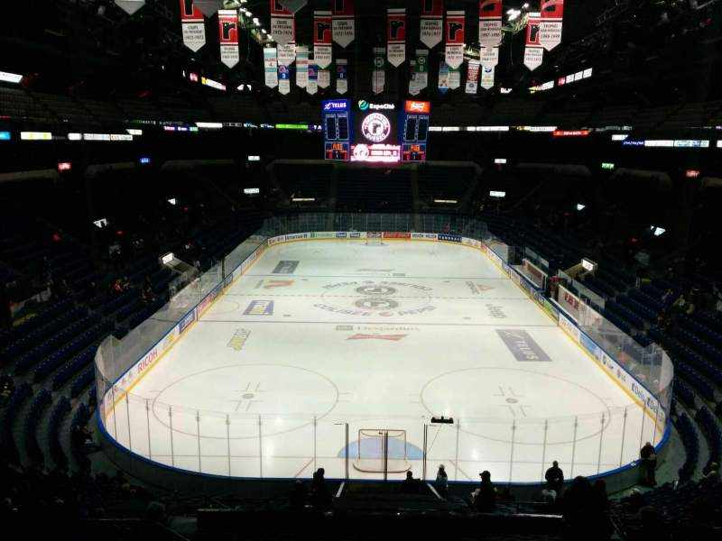 Seating view for Colisée Pepsi Section 201 Row F Seat 10