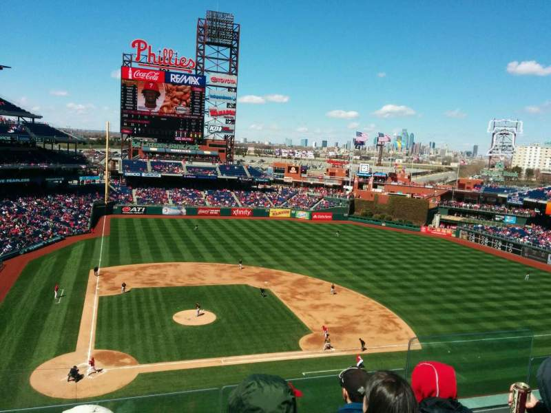 Seating view for Citizens Bank Park Section 317 Row 4 Seat 5