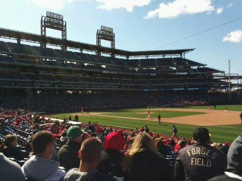 Seating view for Citizens Bank Park Section 113 Row 23 Seat 5